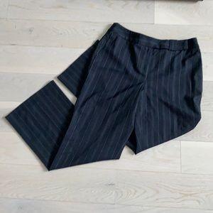 LOFT dress pants 8P, deep navy with striping